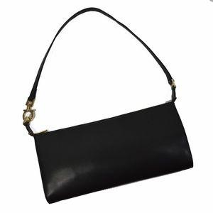 SALVATORE FERRAGAMO Black Leather Small Bag Purse